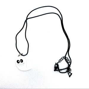 Spooky White Ghost, Halloween necklace! NIP!